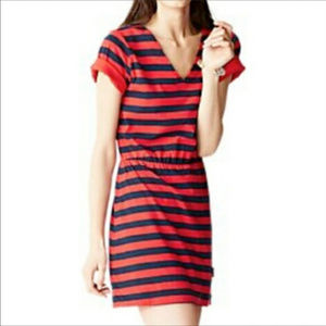 Kate Spade Saturday Call Me Dress XS blue and red